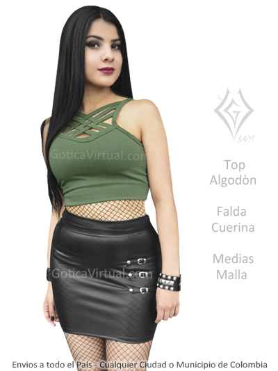 ec773a69144a7 prendas rockeras metaleras dark falda top cuerina ecuador cotopaxi morona  pichincha zamora azuay