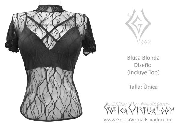 a7840929b blusa blonda diseno top algodon negra rockera metalera algodon prendas ropa