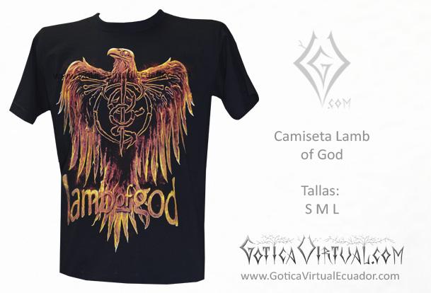 camiseta lam of god metal metalera quito pedidos internet ventas domicilio  envios 9d3f6c83005cf